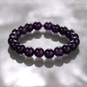 Shop Amethyst Bracelets! AAA Top Quality Genuine amethyst bracelet,stretch gemstone bracelet, women men bracelet jewelry natural stone bracelet, purple Amethyst | Natural genuine Amethyst bracelets. Buy crystal jewelry, handmade handcrafted artisan jewelry for women.  Unique handmade gift ideas. #jewelry #beadedbracelets #beadedjewelry #gift #shopping #handmadejewelry #fashion #style #product #bracelets #affiliate #ad