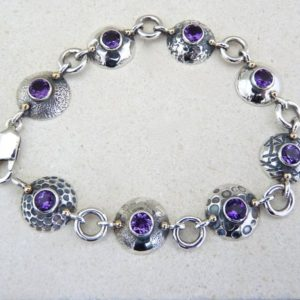 Amethyst silver bracelet , sterling silver bracelet, Amethyst silver and gold bracelet, purple stone bracelet, purple bracelet, purple stone | Natural genuine Amethyst bracelets. Buy crystal jewelry, handmade handcrafted artisan jewelry for women.  Unique handmade gift ideas. #jewelry #beadedbracelets #beadedjewelry #gift #shopping #handmadejewelry #fashion #style #product #bracelets #affiliate #ad