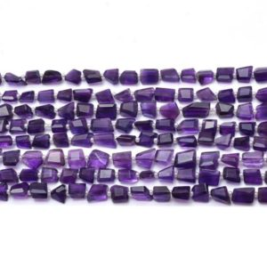 Shop Amethyst Chip & Nugget Beads! Natural AAA+ Amethyst Gemstone 8mm-10mm Faceted Nugget Fancy Beads | 7inch Strand | Amethyst Semi Precious Gemstone Rare Tumbled Loose Beads | Natural genuine chip Amethyst beads for beading and jewelry making.  #jewelry #beads #beadedjewelry #diyjewelry #jewelrymaking #beadstore #beading #affiliate #ad