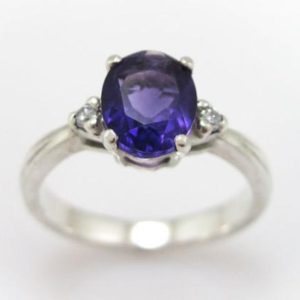 Amethyst Engagement Ring, Oval Engagement Ring, Antique Amethyst Engagement Ring, Amethyst Antique Engagement Ring, Vintage Engagement Ring | Natural genuine Gemstone rings, simple unique alternative gemstone engagement rings. #rings #jewelry #bridal #wedding #jewelryaccessories #engagementrings #weddingideas #affiliate #ad