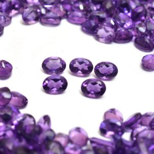 Shop Amethyst Faceted Beads! African Amethyst 3x4mm, 3x5mm Oval Cut Stone | Natural AAA Amethyst Semi Precious Gemstone Faceted Loose Oval Cut Stone Lot for Jewelry | Natural genuine faceted Amethyst beads for beading and jewelry making.  #jewelry #beads #beadedjewelry #diyjewelry #jewelrymaking #beadstore #beading #affiliate #ad