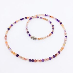 Shop Amethyst Necklaces! Gemstone Choker Necklace, Dainty Collar Necklace, Layering, Halsband Halskette, Collier ras de cou, Amethyst Sunstone Strawberry Quartz | Natural genuine Amethyst necklaces. Buy crystal jewelry, handmade handcrafted artisan jewelry for women.  Unique handmade gift ideas. #jewelry #beadednecklaces #beadedjewelry #gift #shopping #handmadejewelry #fashion #style #product #necklaces #affiliate #ad