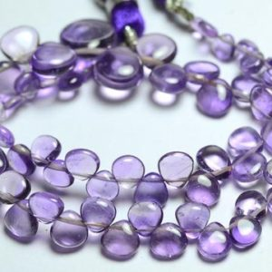 """Shop Amethyst Bead Shapes! 9"""" Natural Amethyst Beads 3×3.5mm to 9×9.5mm Smooth Heart Shape Beads Gemstone Beads Superb Amethyst Stone Semi Precious Beads No2277   Natural genuine other-shape Amethyst beads for beading and jewelry making.  #jewelry #beads #beadedjewelry #diyjewelry #jewelrymaking #beadstore #beading #affiliate #ad"""