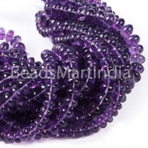 Shop Amethyst Rondelle Beads! Amethyst smooth rondelle shape beads, Amethyst Plain Rondelle Beads, Amethyst Smooth Beads, Natural Amethyst Plain Beads, Amethyst Beads | Natural genuine rondelle Amethyst beads for beading and jewelry making.  #jewelry #beads #beadedjewelry #diyjewelry #jewelrymaking #beadstore #beading #affiliate #ad