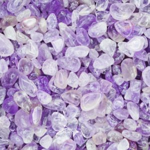 Shop Tumbled Amethyst Crystals & Pocket Stones! Light Amethyst Tumbled Crystal Chips, Choose Amount | Natural genuine stones & crystals in various shapes & sizes. Buy raw cut, tumbled, or polished gemstones for making jewelry or crystal healing energy vibration raising reiki stones. #crystals #gemstones #crystalhealing #crystalsandgemstones #energyhealing #affiliate #ad