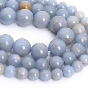 Shop Angelite Beads! Genuine Natural Angelite Loose Beads Grade A Round Shape 6mm 8mm 9-10mm | Natural genuine round Angelite beads for beading and jewelry making.  #jewelry #beads #beadedjewelry #diyjewelry #jewelrymaking #beadstore #beading #affiliate #ad