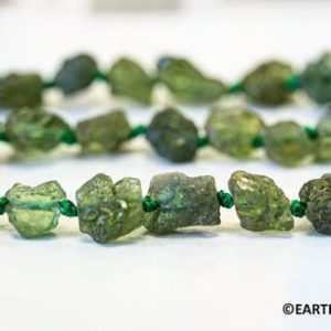 """Shop Apatite Chip & Nugget Beads! M/ Green Apatite 6-7x Rough Nugget  Genuine Raw Natural apatite rough freeform Organic not dyed 16"""" long Bulk discount @EARTHSTONE.COM   Natural genuine chip Apatite beads for beading and jewelry making.  #jewelry #beads #beadedjewelry #diyjewelry #jewelrymaking #beadstore #beading #affiliate #ad"""