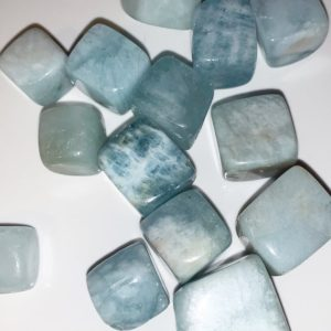 Shop Tumbled Aquamarine Crystals & Pocket Stones! Aquamarine Tumbles Stones | Natural genuine stones & crystals in various shapes & sizes. Buy raw cut, tumbled, or polished gemstones for making jewelry or crystal healing energy vibration raising reiki stones. #crystals #gemstones #crystalhealing #crystalsandgemstones #energyhealing #affiliate #ad