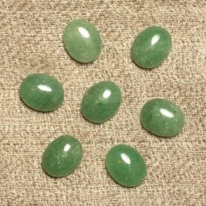 Shop Aventurine Cabochons! 2PC – Cabochon stone – Aventurine green 10x8mm oval – 4558550031501 | Natural genuine stones & crystals in various shapes & sizes. Buy raw cut, tumbled, or polished gemstones for making jewelry or crystal healing energy vibration raising reiki stones. #crystals #gemstones #crystalhealing #crystalsandgemstones #energyhealing #affiliate #ad