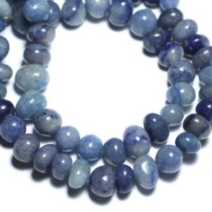 Shop Aventurine Chip & Nugget Beads! -stone Beads – Aventurine Blue Pebbles 8741140008458-9-12mm 10pc | Natural genuine chip Aventurine beads for beading and jewelry making.  #jewelry #beads #beadedjewelry #diyjewelry #jewelrymaking #beadstore #beading #affiliate #ad