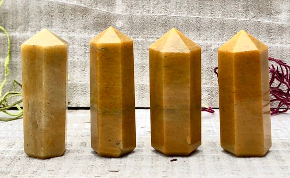 Yellow Aventurine Tower Point For Crystal Grid