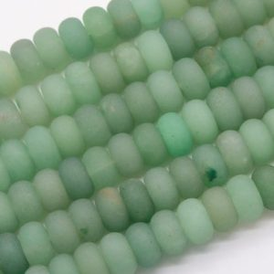 Shop Aventurine Rondelle Beads! Genuine Natural Matte Parsley Bunch Aventurine Loose Beads Rondelle Shape 10x6MM | Natural genuine rondelle Aventurine beads for beading and jewelry making.  #jewelry #beads #beadedjewelry #diyjewelry #jewelrymaking #beadstore #beading #affiliate #ad