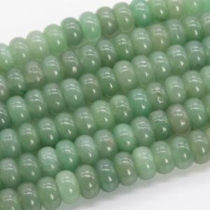 Shop Aventurine Rondelle Beads! Genuine Natural Parsley Bunch Aventurine Loose Beads Rondelle Shape 10x6MM | Natural genuine rondelle Aventurine beads for beading and jewelry making.  #jewelry #beads #beadedjewelry #diyjewelry #jewelrymaking #beadstore #beading #affiliate #ad