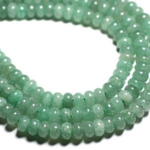 Shop Aventurine Rondelle Beads! Wire 74pc – stone beads – green Aventurine Rondelle 8x5mm approx 39cm | Natural genuine rondelle Aventurine beads for beading and jewelry making.  #jewelry #beads #beadedjewelry #diyjewelry #jewelrymaking #beadstore #beading #affiliate #ad
