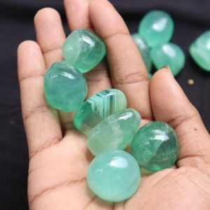 "Shop Tumbled Aventurine Crystals & Pocket Stones! green aventurine (1"" – 1.5"") tumbled stones – healing crystals and stones – green aventurine stones – chakra crystals – heart chakra stones 