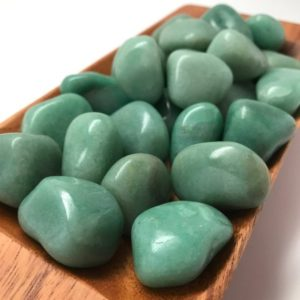 Shop Tumbled Aventurine Crystals & Pocket Stones! Green Aventurine Tumbled Stone #T4 | Natural genuine stones & crystals in various shapes & sizes. Buy raw cut, tumbled, or polished gemstones for making jewelry or crystal healing energy vibration raising reiki stones. #crystals #gemstones #crystalhealing #crystalsandgemstones #energyhealing #affiliate #ad