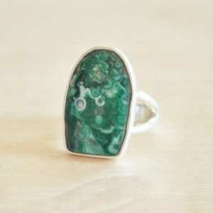 Shop Azurite Rings! Malachite Azurite Swirls Ring / / Malachite Jewelry / / Azurite Jewelry / / Sterling Silver / / Village Silversmith | Natural genuine Azurite rings, simple unique handcrafted gemstone rings. #rings #jewelry #shopping #gift #handmade #fashion #style #affiliate #ad
