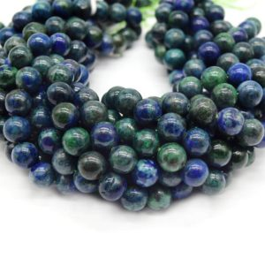 Shop Azurite Beads! Azurite Malachite Beads | Smooth Azurite Malachite Round Beads | 4mm 6mm 8mm 10mm | Single Or Bulk Lots Available | Natural genuine beads Azurite beads for beading and jewelry making.  #jewelry #beads #beadedjewelry #diyjewelry #jewelrymaking #beadstore #beading #affiliate #ad