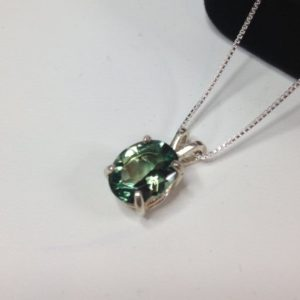 Shop Green Amethyst Jewelry! BEAUTIFUL 3ct Oval Cut Green Amethyst Prasiolite Sterling Silver Solitaire Pendant Necklace Jewelry Trends Green Tourmaline Necklace Gift | Natural genuine Green Amethyst jewelry. Buy crystal jewelry, handmade handcrafted artisan jewelry for women.  Unique handmade gift ideas. #jewelry #beadedjewelry #beadedjewelry #gift #shopping #handmadejewelry #fashion #style #product #jewelry #affiliate #ad