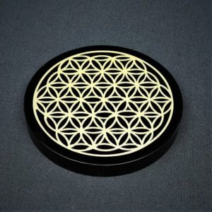 Shop Crystal Healing Charging Plates & Crystal Grid Mats! Black Obsidian Flower of Life Grid Plate ~ Home Décor ~ Black Obsidian ~ Crystal Grid ~ Crystal Cleansing ~ Crystal Healing ~ Crystal Energy | Shop jewelry making and beading supplies, tools & findings for DIY jewelry making and crafts. #jewelrymaking #diyjewelry #jewelrycrafts #jewelrysupplies #beading #affiliate #ad