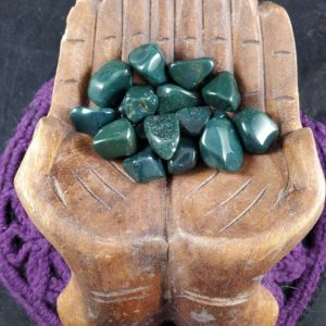 Shop Tumbled Bloodstone Crystals & Pocket Stones! Bloodstone Tumbled Stone Polished Crystal Dark Green Stones Crystals Pocket tumbles | Natural genuine stones & crystals in various shapes & sizes. Buy raw cut, tumbled, or polished gemstones for making jewelry or crystal healing energy vibration raising reiki stones. #crystals #gemstones #crystalhealing #crystalsandgemstones #energyhealing #affiliate #ad