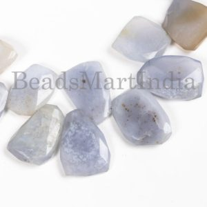 Shop Blue Chalcedony Beads! Blue Chalcedony Faceted Nugget Natural Beads, Natural Chalcedony Beads, Chalcedony Faceted Beads, Blue Chalcedony Nuggets Beads | Natural genuine chip Blue Chalcedony beads for beading and jewelry making.  #jewelry #beads #beadedjewelry #diyjewelry #jewelrymaking #beadstore #beading #affiliate #ad