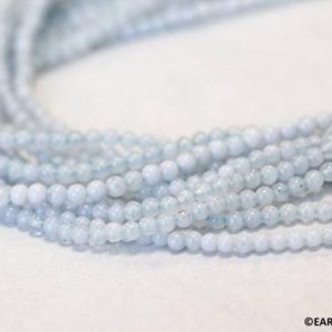 """Shop Blue Lace Agate Round Beads! XS/ Blue Lace Agate 2mm Smooth Round beads 16"""" strand Tiny light blue beads for jewelry making   Natural genuine round Blue Lace Agate beads for beading and jewelry making.  #jewelry #beads #beadedjewelry #diyjewelry #jewelrymaking #beadstore #beading #affiliate #ad"""