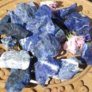 Shop Raw & Rough Sodalite Stones! Blue Sodalite Raw Rough Stone Crystal Healing Protection Chakra Metaphysical Wiccan Pagan Witch Wicca Pagan Reiki Shaman Magick Altar | Natural genuine stones & crystals in various shapes & sizes. Buy raw cut, tumbled, or polished gemstones for making jewelry or crystal healing energy vibration raising reiki stones. #crystals #gemstones #crystalhealing #crystalsandgemstones #energyhealing #affiliate #ad