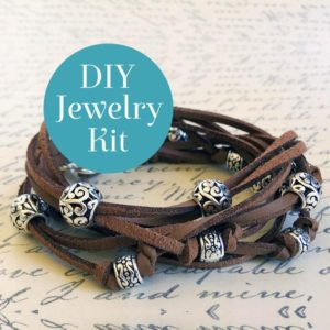 Shop Jewelry Making Kits! Boho Leather Wrap Bracelet Kit in Cocoa – DIY Bracelet Kit With Online Video Tutorial   Shop jewelry making and beading supplies, tools & findings for DIY jewelry making and crafts. #jewelrymaking #diyjewelry #jewelrycrafts #jewelrysupplies #beading #affiliate #ad
