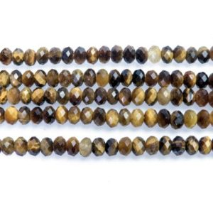 Shop Tiger Eye Rondelle Beads! brown tigers eye small spacer beads – small rondelle beads wholesale – bulk faceted gemstones -stones for jewelry making -15inch | Natural genuine rondelle Tiger Eye beads for beading and jewelry making.  #jewelry #beads #beadedjewelry #diyjewelry #jewelrymaking #beadstore #beading #affiliate #ad