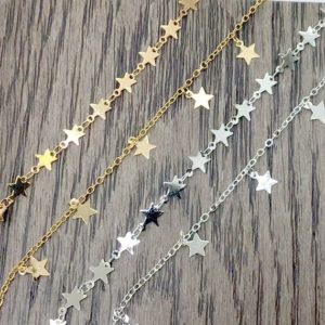 Shop Chain for Jewelry Making! Bulk Gold Plated Star Chain / Silver Star Chain 7mm | Sold By Ft For Necklace, bracelet | Beading Chain | Star Chain For Necklace Making | Shop jewelry making and beading supplies, tools & findings for DIY jewelry making and crafts. #jewelrymaking #diyjewelry #jewelrycrafts #jewelrysupplies #beading #affiliate #ad