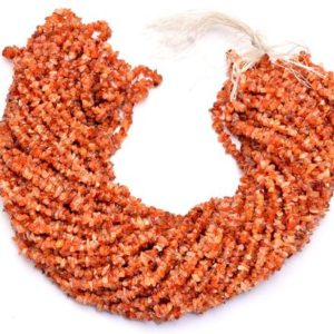 Shop Carnelian Chip & Nugget Beads! Natural Orange Carnelian Gemstone Uncut Chips 4mm-5mm Beads | 34inch Strand | Semi Precious Gemstone Smooth Nugget | Jewelry Making Supplies | Natural genuine chip Carnelian beads for beading and jewelry making.  #jewelry #beads #beadedjewelry #diyjewelry #jewelrymaking #beadstore #beading #affiliate #ad