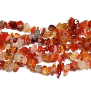 Shop Carnelian Chip & Nugget Beads! Wire 89cm 260pc env – stone beads – carnelian rock Chips 5-10mm | Natural genuine chip Carnelian beads for beading and jewelry making.  #jewelry #beads #beadedjewelry #diyjewelry #jewelrymaking #beadstore #beading #affiliate #ad