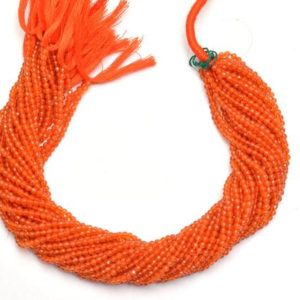 Shop Carnelian Faceted Beads! AAA Carnelian 3mm Round Faceted Beads | 13inch Strand | Natural Orange Carnelian Semi Precious Gemstone Beads for Jewelry | Wholesale Price | Natural genuine faceted Carnelian beads for beading and jewelry making.  #jewelry #beads #beadedjewelry #diyjewelry #jewelrymaking #beadstore #beading #affiliate #ad