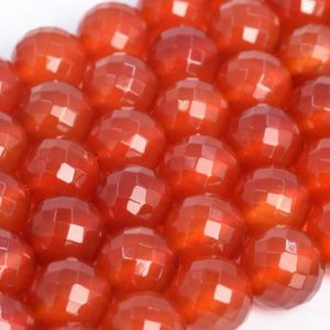 Genuine Natural Red Carnelian Loose Beads Micro Faceted Round Shape 8mm 10mm | Natural genuine faceted Carnelian beads for beading and jewelry making.  #jewelry #beads #beadedjewelry #diyjewelry #jewelrymaking #beadstore #beading #affiliate #ad