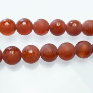 matte and shiny carnelian beads – fossil fish skeleton pattern beads – red matte gemstone beads – jewelry beads and stones -15inch | Natural genuine beads Array beads for beading and jewelry making.  #jewelry #beads #beadedjewelry #diyjewelry #jewelrymaking #beadstore #beading #affiliate #ad