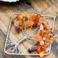 Orange Peach Carnelian Tree Of Life Necklace Silver Natural Crystal Healing Tree Pendant Birthday Gift Pisces March Aries April | Natural genuine Gemstone jewelry. Buy crystal jewelry, handmade handcrafted artisan jewelry for women.  Unique handmade gift ideas. #jewelry #beadedjewelry #beadedjewelry #gift #shopping #handmadejewelry #fashion #style #product #jewelry #affiliate #ad