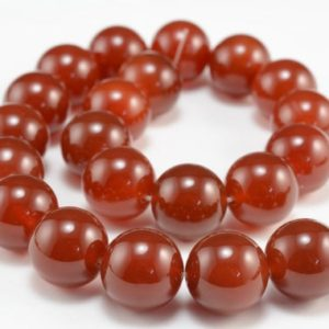chunky carnelian beads – red gemstone round beads – natural carnelian beads supplies – red loose stone beads – red beads wholesale -15inch | Natural genuine beads Array beads for beading and jewelry making.  #jewelry #beads #beadedjewelry #diyjewelry #jewelrymaking #beadstore #beading #affiliate #ad