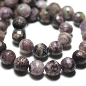 Shop Charoite Faceted Beads! Wire 39cm 39pc env – stone beads – Charoite Violet Purple black balls faceted 10 mm | Natural genuine faceted Charoite beads for beading and jewelry making.  #jewelry #beads #beadedjewelry #diyjewelry #jewelrymaking #beadstore #beading #affiliate #ad
