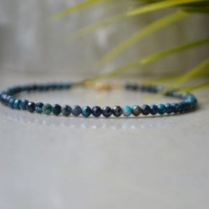 Shop Chrysocolla Jewelry! Peru Chrysocolla bracelet – bracelet femme, delicate beaded bracelet, Viridian green color crystal, Gift for Her – gemstone bracelet | Natural genuine Chrysocolla jewelry. Buy crystal jewelry, handmade handcrafted artisan jewelry for women.  Unique handmade gift ideas. #jewelry #beadedjewelry #beadedjewelry #gift #shopping #handmadejewelry #fashion #style #product #jewelry #affiliate #ad