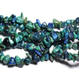 Wire 89cm 250pc env – stone beads – Chrysocolla rock Chips 5-10mm | Natural genuine chip Chrysocolla beads for beading and jewelry making.  #jewelry #beads #beadedjewelry #diyjewelry #jewelrymaking #beadstore #beading #affiliate #ad