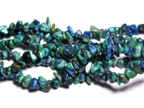 Wire 89cm 250pc Env - Stone Beads - Chrysocolla Rock Chips 5-10mm
