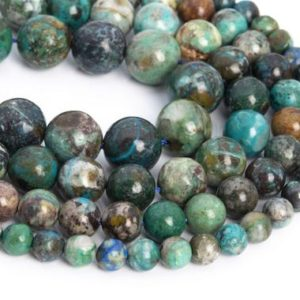 Shop Chrysocolla Round Beads! Genuine Natural Chrysocolla Loose Beads Grade AA Round Shape 7mm 8mm | Natural genuine round Chrysocolla beads for beading and jewelry making.  #jewelry #beads #beadedjewelry #diyjewelry #jewelrymaking #beadstore #beading #affiliate #ad