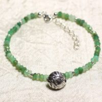 Bracelet 925 Sterling Silver And Stone – Chrysoprase Faceted Rondelles 3mm | Natural genuine Gemstone jewelry. Buy crystal jewelry, handmade handcrafted artisan jewelry for women.  Unique handmade gift ideas. #jewelry #beadedjewelry #beadedjewelry #gift #shopping #handmadejewelry #fashion #style #product #jewelry #affiliate #ad