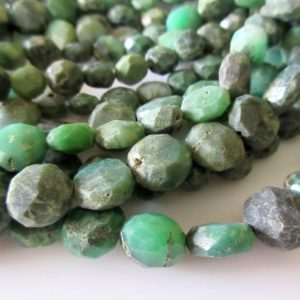Shop Chrysoprase Bead Shapes! Chrysoprase Button Beads Faceted Raw Looking Chrysoprase Flat Button Coin Rondelles, 11mm Beads, 13 Inch Strand, GDS8 | Natural genuine other-shape Chrysoprase beads for beading and jewelry making.  #jewelry #beads #beadedjewelry #diyjewelry #jewelrymaking #beadstore #beading #affiliate #ad