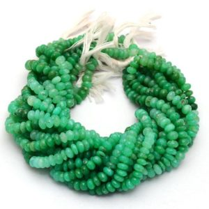 """Shop Chrysoprase Faceted Beads! AAA Chrysoprase 8mm Rondelle Faceted Beads 