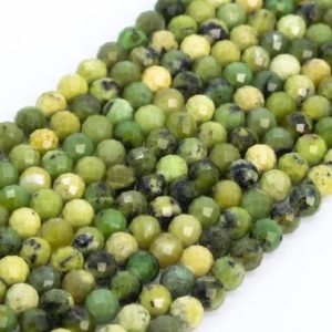 Shop Chrysoprase Faceted Beads! Genuine Natural Chrysoprase / Australian Jade Loose Beads Grade AAA Faceted Round Shape 5mm | Natural genuine faceted Chrysoprase beads for beading and jewelry making.  #jewelry #beads #beadedjewelry #diyjewelry #jewelrymaking #beadstore #beading #affiliate #ad