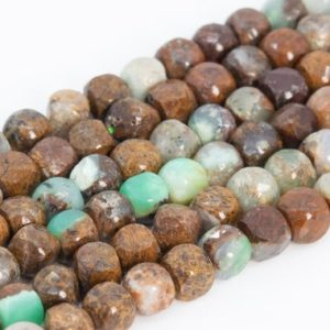 Shop Chrysoprase Faceted Beads! Genuine Natural Brown Green Chrysoprase / Australian Jade Loose Beads Grade AAA Faceted Cube Shape 4mm | Natural genuine faceted Chrysoprase beads for beading and jewelry making.  #jewelry #beads #beadedjewelry #diyjewelry #jewelrymaking #beadstore #beading #affiliate #ad