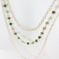 Gold Green Chrysoprase Necklace, Long Bib Necklace, Statement Necklace   Natural genuine Gemstone jewelry. Buy crystal jewelry, handmade handcrafted artisan jewelry for women.  Unique handmade gift ideas. #jewelry #beadedjewelry #beadedjewelry #gift #shopping #handmadejewelry #fashion #style #product #jewelry #affiliate #ad