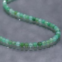 Chrysoprase Necklace Ombre Chrysoprase Bead Necklace Handmade Necklace Sparkling Chrysoprase Silver Necklace Gift For Mom Birthday Gift | Natural genuine Gemstone jewelry. Buy crystal jewelry, handmade handcrafted artisan jewelry for women.  Unique handmade gift ideas. #jewelry #beadedjewelry #beadedjewelry #gift #shopping #handmadejewelry #fashion #style #product #jewelry #affiliate #ad
